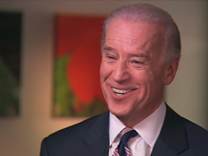 Exclusive ABC News video of VP Joe Biden.