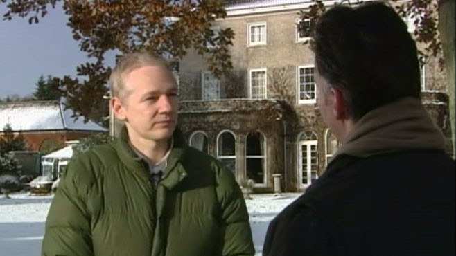 VIDEO: WikiLeaks founder talks to ABC's Jim Sciutto after his jail release.