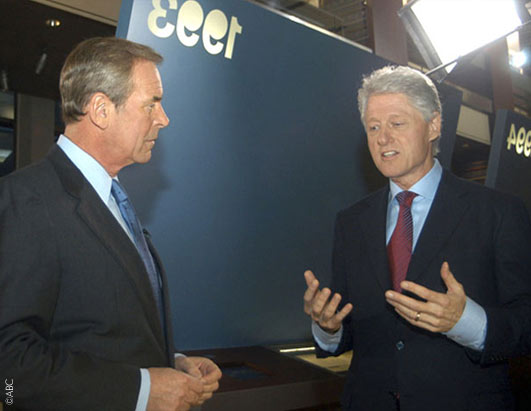 ABC News' Peter Jennings sits down for an exclusive interview with former President Bill Clinton in Little Rock