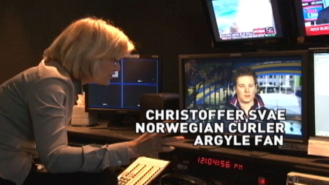 VIDEO: Diane Sawyer chats with Christoffer Svae from Norway's curling team