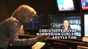 VIDEO: Diane Sawyer chats with Christoffer Svae from Norways curling team