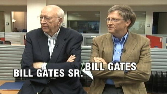 VIDEO: Bill Gates and his father stop by to talk about the importance of giving back