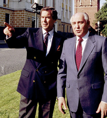 Peter Jennings with Mikhail Gorbachev