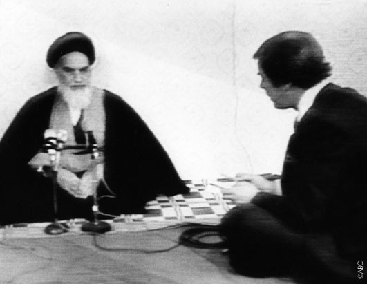 Peter Jennings was the only foreign reporter allowed to interview Ayatollah Khomeini