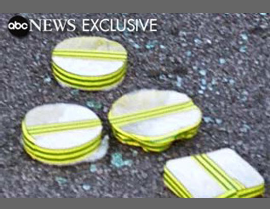 Exclusive photographs obtained by ABC News show the bombs used in the July 7th London attacks for the first time. The bombs were made of homemade high explosives. Some were packaged like pancakes.