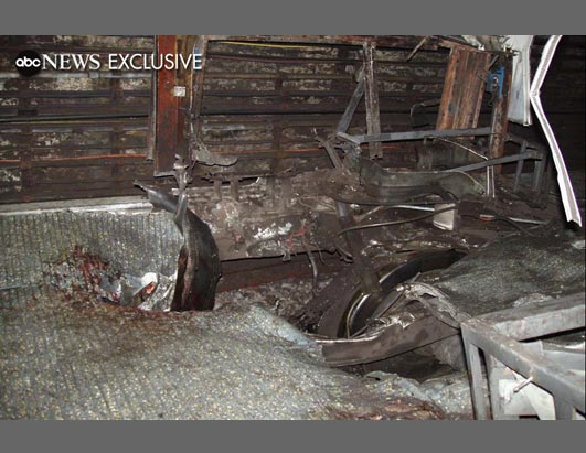 This exclusive photograph shows the inside of the train at London's Edgware Road Underground station, where 7 people were killed in the July 7th attacks.