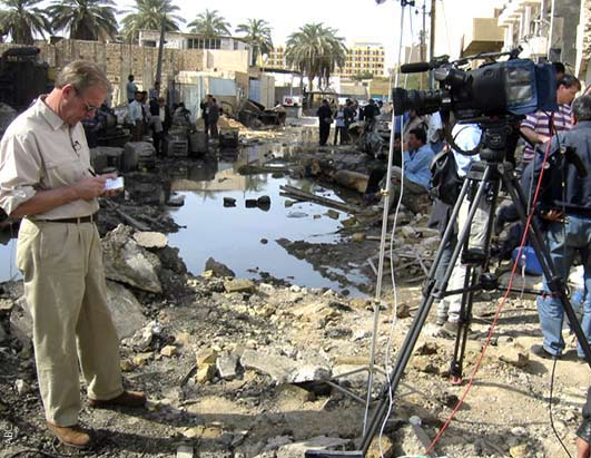 Peter Jennings on the rebuilding of Iraq during his report from Baghdad