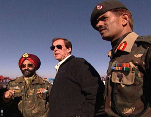 Peter Jennings speaks with Indian Brigadier R.S. Malan