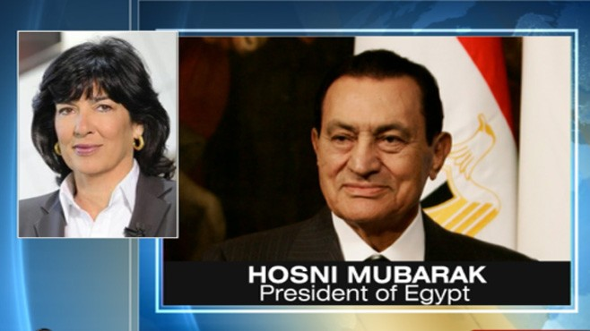 VIDEO: Egyptian president tells Amanpour his regime is not responsible for violence.