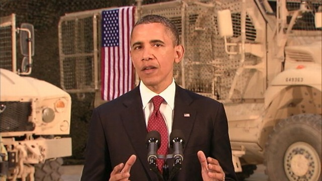 VIDEO: President looks forward to a future without war, U.S. troops returning home.