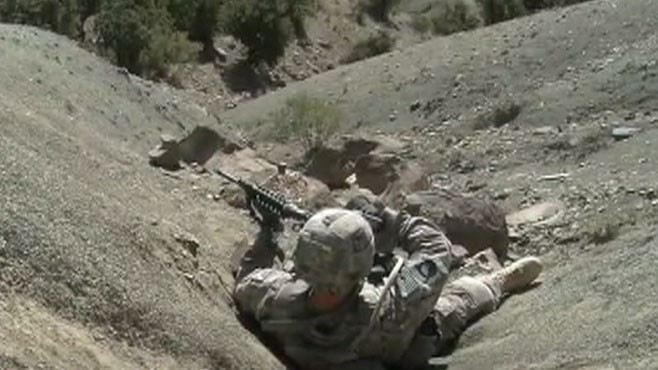 VIDEO: A team of U.S. soldiers battle the Taliban in Afghanistans eastern mountains.