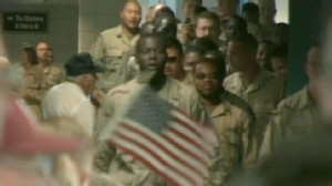 VIDEO: Americans Greet Soldiers as They Come Home