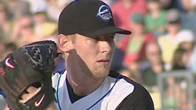 VIDEO: The 21-Year-Old pitcher throws a 100mph fastball.