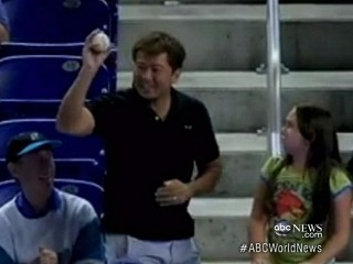 Watch: Man Nabs Foul Ball From Little Girl