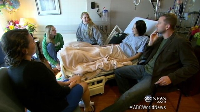 VIDEO: Marathon hero pays visit to bombing victims bedside and recalls tragic day.