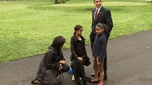 VIDEO: The Obama Family unveils Bo Obama.