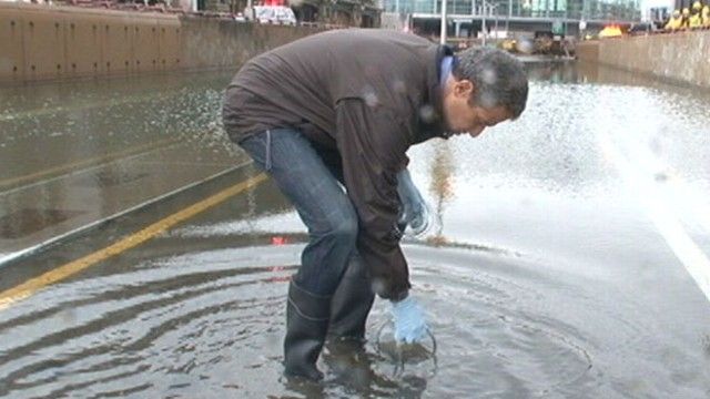 VIDEO: Dr. Richard Besser shares findings on the safety of the flood waters brought by Sandy.