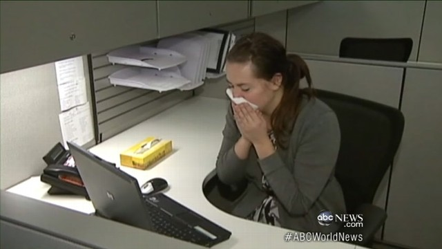 VIDEO: Each cough, sneeze or conversation puts more flu virus into already contaminated air.