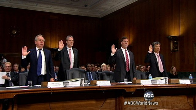 VIDEO: Exec steps down during blistering Senate hearing.
