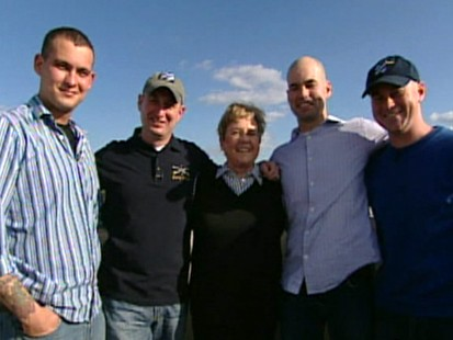 Four brothers return from war to celebrate Christmas with their mother.