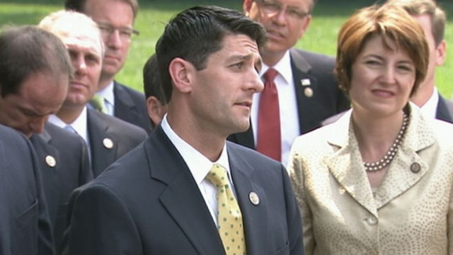 VIDEO: President Obama squares off with Republicans on House budget.