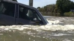 VIDEO: Demonstration shows the right moves to make if your car is sinking under water.