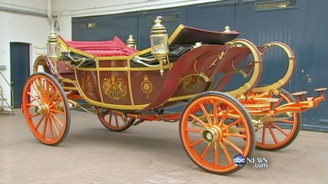 VIDEO: The carriage that carried Charles and Diane will also carry Will and Kate.