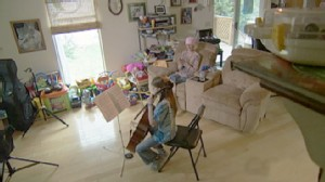 VIDEO: Donations help Micayla Hills play cello for her mother stricken with leukemia.