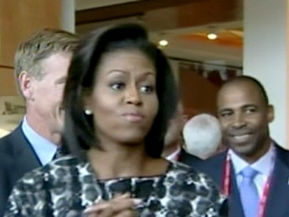 VIDEO: Michelle Obama Rallies for 2016 Olympics
