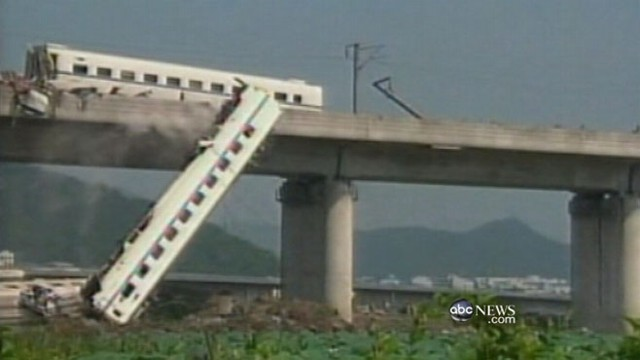 VIDEO: Chinese government under fire for its handling of high-speed train accident.