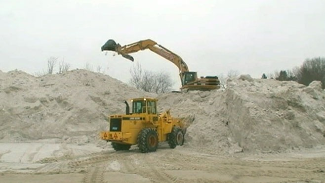 VIDEO: Ron Claiborne reports how some states are dealing with the piles of snow.
