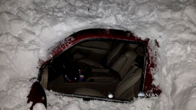 VIDEO: Survivors found trapped in a car after days in the snow.
