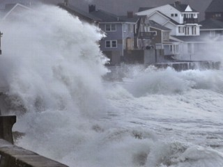 Watch: Winter Storm Hammers Sandy-Ravaged Areas