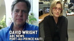 VIDEO: Diane Sawyer chats with David Wright in Haiti.