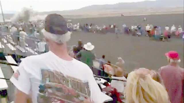 VIDEO: A tragic accident in Nevada leaves the crowd shocked.