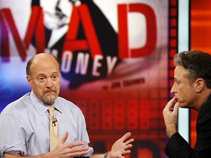 VIDEO: Stewart Mad at Mad Moneys Cramer