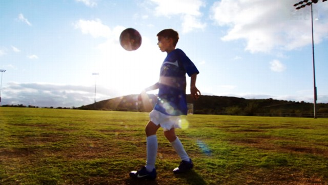 VIDEO: Amazing young soccer star fights off liver cancer and gets to train with Barcelona soccer team.