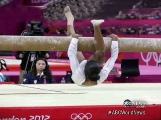 Watch: Gabby Douglas Slips on Beam
