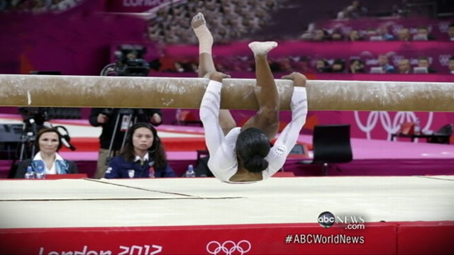 VIDEO: All-around winner falters in final events; Aly Raisman takes bronze and gold.