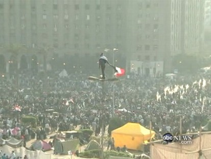 VIDEO: Egyptians protest militarys failure to hand over government to civilians.