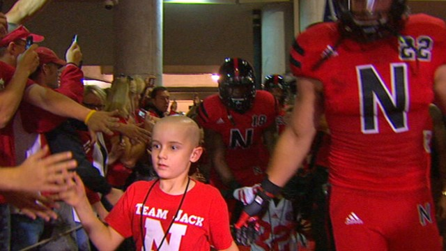 VIDEO: After out-running his favorite Nebraska players to score a touchdown, he now has another victory.