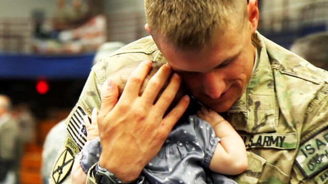 VIDEO: A special reunion highlights what military families go through while a loved one is serving.