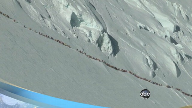 "VIDEO: Death of four climbers blamed on mountain ""traffic jam."""