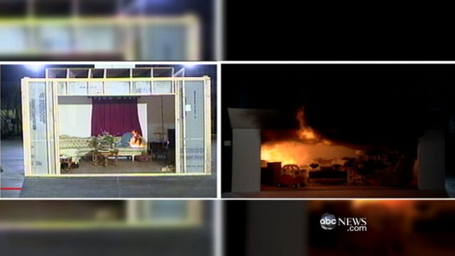 Modern vs Old Homes Burn in Simulation Video ABC News