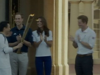 Watch: Will and Kate Welcome Olympic Torch