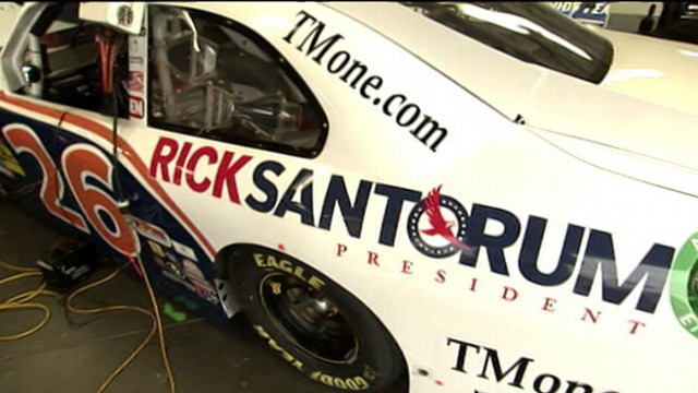 VIDEO: GOP candidates look to gain support with conservative racing fans. 