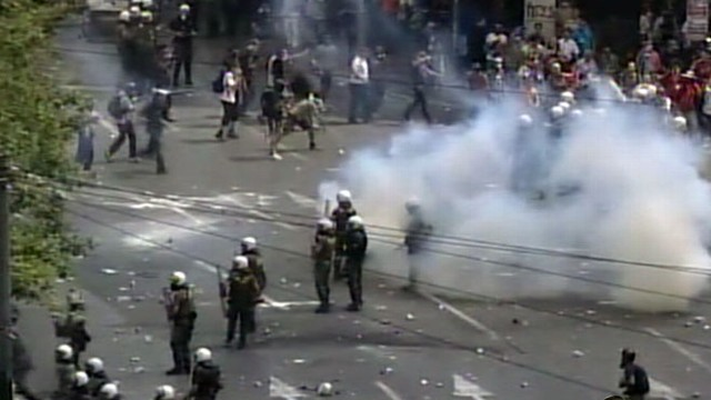VIDEO: Protests paralyze city as Greek economy teeters on collapse.
