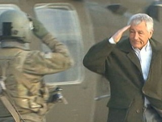 Watch: Chuck Hagel Visits Afghanistan, Violent Attacks Follow