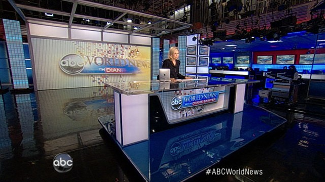 """abc world news with diane sawyer Diane sawyer signed off from abc's """"world news"""" on wednesday after nearly  five years — with gratitude and thanks for her viewers and staff."""