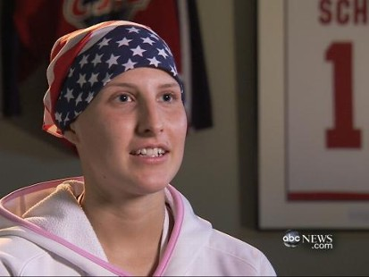 Desperate search to find donor for cancer-stricken college athlete.